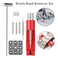 11Pcs Watch Repair Tool Set Strap Link Holder Hammer Punch Pin Remover Kit Set