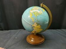 Vintage Replogle Metal Globe Simplified 8 Inch Gustav Brueckmann Made In Usa
