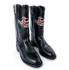 Justin Womens Boots Low Heel Cowboy Black Size 5.5 B Embroidered Anniversary