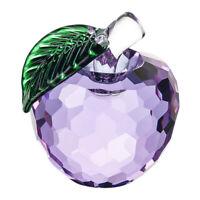 Purple Glaze Crystal Apples Paperweight Crafts Decoration