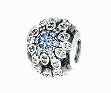 New Authentic Pandora Crystalized Snowflake Charm Bead 791760NBLMX