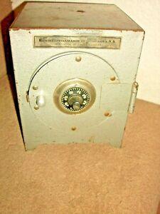 Vintage Original Tin Combination Safe Still Bank working w/combination