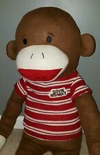 "40"" Sock Monkey Giant Dan Dee Large Plush Stuffed Animal Collectors Choice Large"