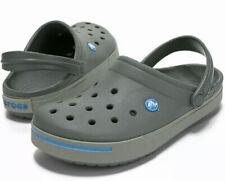 Crocs Crocband II Gray Clog Mens 8 Women's 10 - 11989-01W - NEW