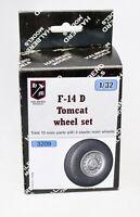 Halberd Models wheel set F-14D Tomcat 1/32 scale for Trumpeter kit