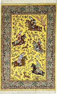 Ghomi Yaghd 100% Silk 900.000, Kn / Qm Persian Carpet Oriental Rug 1,94 X 1,28