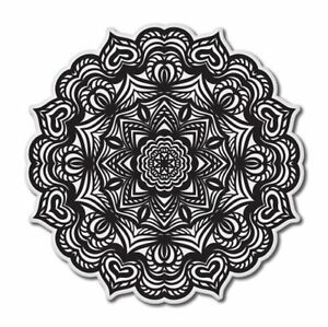 Mandala Ornamental Black White Car Vinyl Sticker - SELECT SIZE