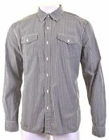 LEVI'S Mens Shirt XL Grey Check Cotton Slim Fit  IL17