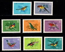 N.379- Vietnam- Nectar-Sucking birds set 8 1981