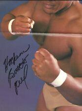EB1181  Hacksaw Butch Reed signed Wrestling Magazine  Poster w/ COA