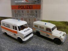 1/87 Brekina Set Polizei Basel Schweiz CH Opel Blitz + Land Rover 99292