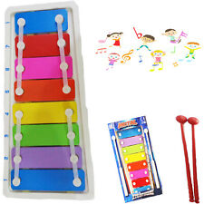 Mini Metal Xylophone With 8 keys and 2 Musical Instrument Fun And Colourful