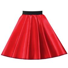 GIRLS 1950s Costume 21 Inch SATIN Rock n Roll Skirt HAIRSPRAY Grease Fancy dress