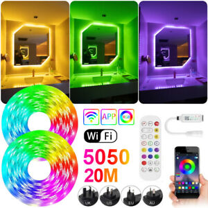 5050 Led RGBW String Light Music Sync Bluetooth Remote Room TV Bar Strip Lights