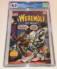 WEREWOLF BY NIGHT #32 ~ Origin & 1st app MOON KNIGHT 1975 ~ CGC 4.5 WHITE pages!