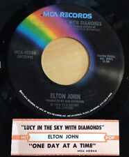 Elton John 45 Lucy In The Sky With Diamonds / One Day At A Time  w/ts