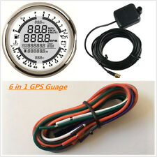 85MM SILVER DIGITAL GPS SPEEDOMETER, TACHOMETER AND MULTIMETER, 6 IN 1 FUNCTIONS