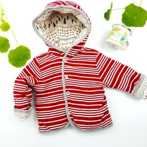 Burt's Bees Baby Organic Reversible Quilted Jacket Infant Size 3-6 Months