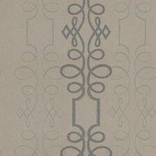 Taupe / Black - SCROLL/002 - Scroll - Compendium - Blendworth Wallpaper