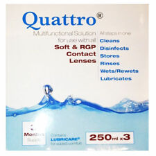 Quattro Multifunctional Contact lens solution 100ml, 250ml & 3 Month Pack BNWT