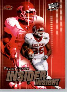 2008 Press Pass SE Football Insider Insight #II-20 Felix Jones - Arkansas
