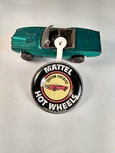 Hot Wheels Redline Custom Firebird Green 1968 USA with badge