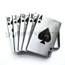Royal Straight Flush Casino Hold'Em Poker Metal Fashion Belt Buckle
