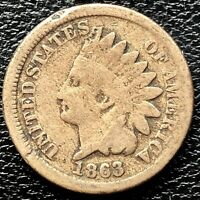 1863 Indian Head Cent One Penny 1c Circulated #20414