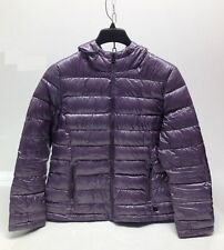 "NEW Andrew Marc Ladies Packable Quilted Puffer Hood Down Jacket ""L"" Violet"