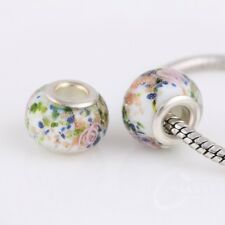 Murano Glass Chamilia Charm Space Bead fits European Bracelet + Gift Pouch