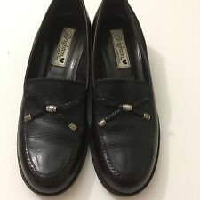 "Brighton ""Donna"" Loafers Women's 7.5N Italian Made Croco-Embossed Leather"