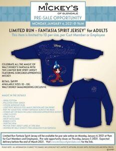 Disney Spirit Jersey Fantasia-limited Run Cast Member Exclusive  (confirmed) XS