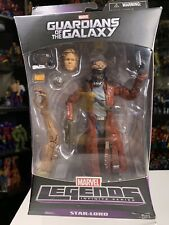 """Marvel Legends STAR-LORD 6"""" Figure Guardians of the Galaxy (Groot BAF)"""