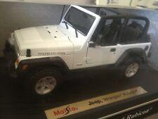 "Maisto 1:18 2004 White Jeep Wrangler ""Rubicon"" Special Edition"