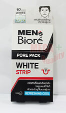 Kao Biore Men Pore Pack White Strip Refreshing Cool Removes Blackheads 10 Strips