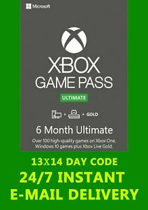 XBOX Live Gold & GAME PASS Ultimate 6 Months 13x14 Day(182 Days)Instant Delivery