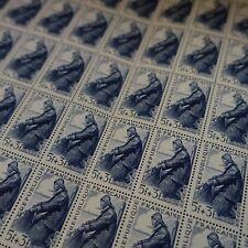 FEUILLE SHEET TIMBRE SÉRIE DES MÉTIERS MARIN PÉCHEUR N°824 x50 NEUF ** LUXE MNH