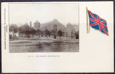 Patriotic, Canada, Halifax, NS, The Armory, No. 16, Embossed Flag