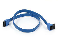 "Monoprice 8783 18"" SATA 6Gbps Cable Locking Latch 90 Degree to 180 Degree Blue"