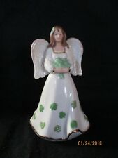 "Lenox  Figurine---""Irish Angel""--Decorated With Shamrocks---New in Box"
