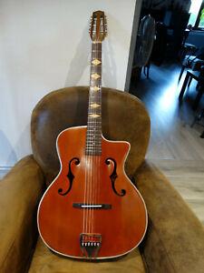 Guitare Jazz Manouche Luthier A di Mauro Super Chorus années 40