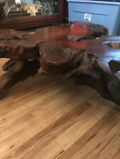Old Growth Red Wood Burl Coffee Table From California.