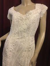 Jasmine Haute Couture Designer Wedding Gown Size 10 Ivory Beaded Handsewn Detail