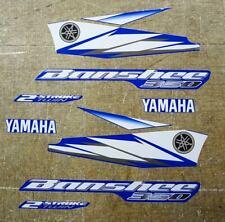 Yamaha Banshee stickers kit graphics decals 10pc Blue/Silver/White YFZ350