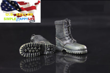1/6 BLACK color Combat boots soldier shoes hot toys phicen ganghood ❶US seller❶