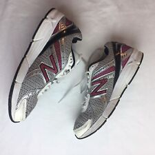 New Balance 8 Womens Sneakers Running Shoes White Pink Lettering Athletic Shoes