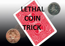 LETHAL COIN MAGIC TRICK [2p to 10p] 2 Pence coin Transforms to 10 Pence Coin