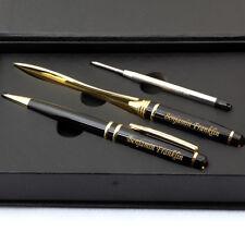 Free Engraving ,Gold Ball Point Pen, Refill Ball Pen, Letter Opener, Paper Knife