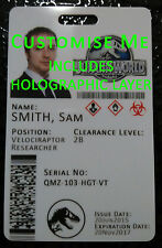 Jurassic World Cosplay Novelty ID Badge Card - FULLY CUSTOMISABLE Jurassic Park
