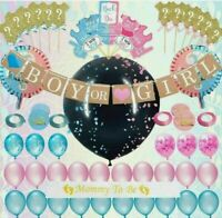 Gender REVEAL Party Supplies, Baby Shower Boy or Girl Decoration Kit -127 PIECES